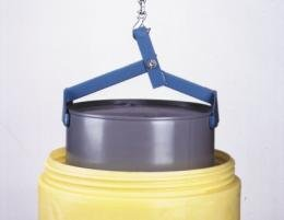 WESCO 92S 55 Gallon Steel All-In-One Drum Lifter for open or tight-head drums. 1000 lb capacity.