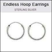 Sterling Silver 8mm Endless Wire Hoop Earrings