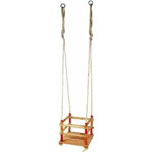 Wooden Safety-Seat Garden Swing for Small Children by Legler