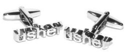 Wow Cufflinks Usher Silver Wedding Day Cufflinks with Box