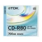 TDK CD-R80JCA-D CD-R 52x 80min 1 unit