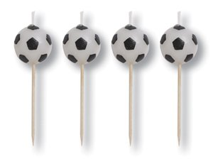 Soccer Pick Candles - 4 Pack - 1