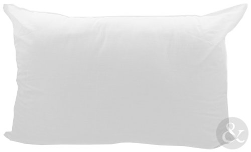 LARGE Bed Pillows - Firm Support / Bounce Back / Memory Foam Bedroom Pillow Bounce Back - Cream ( poly filled )