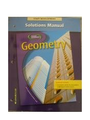 Geometry 2004 Solutions Manual