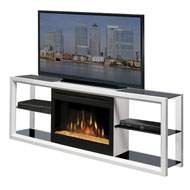 """Novara 64"""" Tv Stand With Electric Fireplace Finish: White With Glass Ember Bed"""