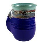 Right-Handed Mystic Water Handwarmer Mug: Clay In Motion