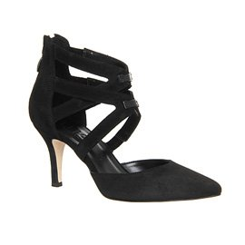 OFFICE | Gilly strappy heels in black suede