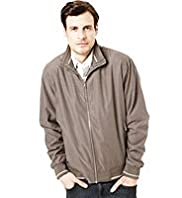 Big & Tall Blue Harbour Funnel Neck Soft Bomber Jacket with Stormwear™