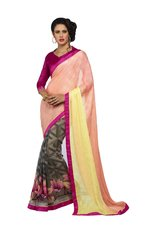 Shaily Retails New Beautiful Georgette and Jacquard Saree