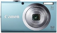 21bVbeKp6fL Canon PowerShot A2400 IS 16.0 MP Digital Camera with 5x Optical Image Stabilized Zoom 28mm Wide Angle Lens with 720p Full HD Video Recording and 3.2 Inch Touch Panel LCD (Silver)