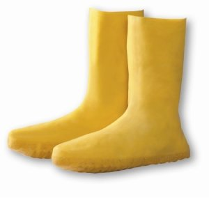 Latex Nuke Boots, 1 Pair, 2XL, Yellow, 100% Waterproof, Liquid Barrier, #8400