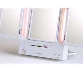 Amazon Com Jerdon Jgl9w Tri Fold Lighted Mirror With 5x