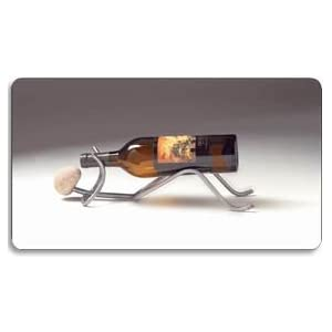 Decorative Metal Wine Rack (Handcrafted - Reclining Man)