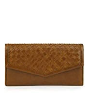 M&S Collection Foldover Flap Weave Envelope Purse