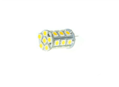 Domire 12V G4 Led Bulb Lamps 24Smd 5050 Day White 20W Halogen Replacements Pack Of 6