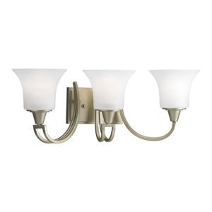 Progress Lighting P3243-117 Bistro 54 3 Light Bathroom Light, Ham... - 2495020
