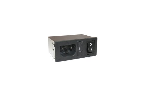 Interpower 83510031 Four Function Power Entry Module, C14 Inlet, Switch, Single Fused, Filter, 1-2mm Panel Thickness, 4 Amp/6 Amp Current Rating, 125/250VAC Voltage Rating (Iec Power Cord Filter compare prices)