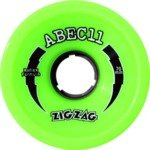 Abec 11 ZigZags Lime Longboard Wheels - 70mm 80a (Set of 4)