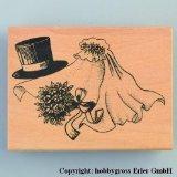 Stamp, bridal veils, 60 x 80 mm.