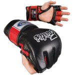 Fairtex Ultimate Combat MMA Gloves – Open Thumb Black/Red