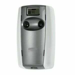 Rubbermaid Commercial Fg4870001 Microburst Duet Dual-Fragrance Odor Control Dispenser, White & Gray Pearl