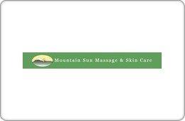 Mountain Sun Massage & Skincare Gift Card ($25)