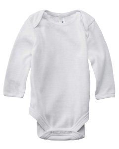 Bella Canvas Infant Long-Sleeve Thermal One-Piece - White/White - 6-12Mos front-813650