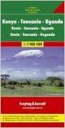 East Africa Road Map (Kenya, Tanzania, Uganda) (German Edition)