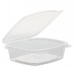 Clear Hinged Deli Container, Apet, 8 Oz, 5-3/8 X 4-1/2 X 2