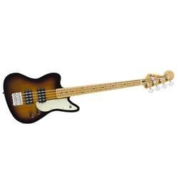 Fender Pawn Shop Reverse Jaguar Electric Bass Guitar, Maple Fingerboard - 2-Color Sunburst