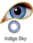 Coloured Contact Lenses with Free Solution and Case - Indigo Sky (3 Months)
