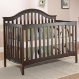 Sorelle Lynn 4 in 1 Convertible Crib, Merlot
