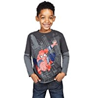 Pure Cotton Spider-Man Print T-Shirt