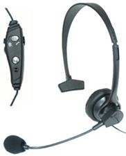 Mizco Tough Tested Uem-3000 Corded Over The Head Headset With Boom Mic - Retail Packaging - Black