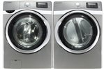 Samsung Platinum 5.0 Cu Ft Steam Washer and 7.5 Steam Electric Dryer WF520A ....