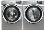 Samsung Platinum 5.0 Cu Ft Steam Washer and 7.5 Steam GAS Dryer WF520ABP_DV ....