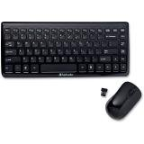 Verbatim Mini Wireless Slim Keyboard and Mouse, Black 97472