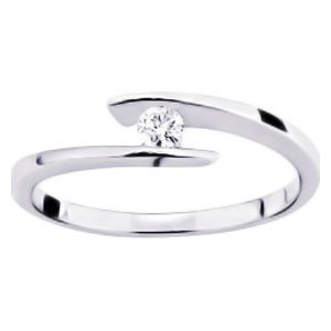 So Chic Jewels - Ladies 9k Yellow Gold 0.08 ct Diamond Solitaire Engagement Ring