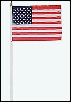 """Wholesale Lot 300-pc Case USA American Flags Polyester Hand Held Flag 12""""x18"""""""
