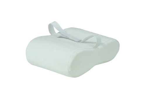 Motionperformance Essentials White Velour Memory Foam Leg Support & Comfort Pillow - (Between Legs or Underneath)