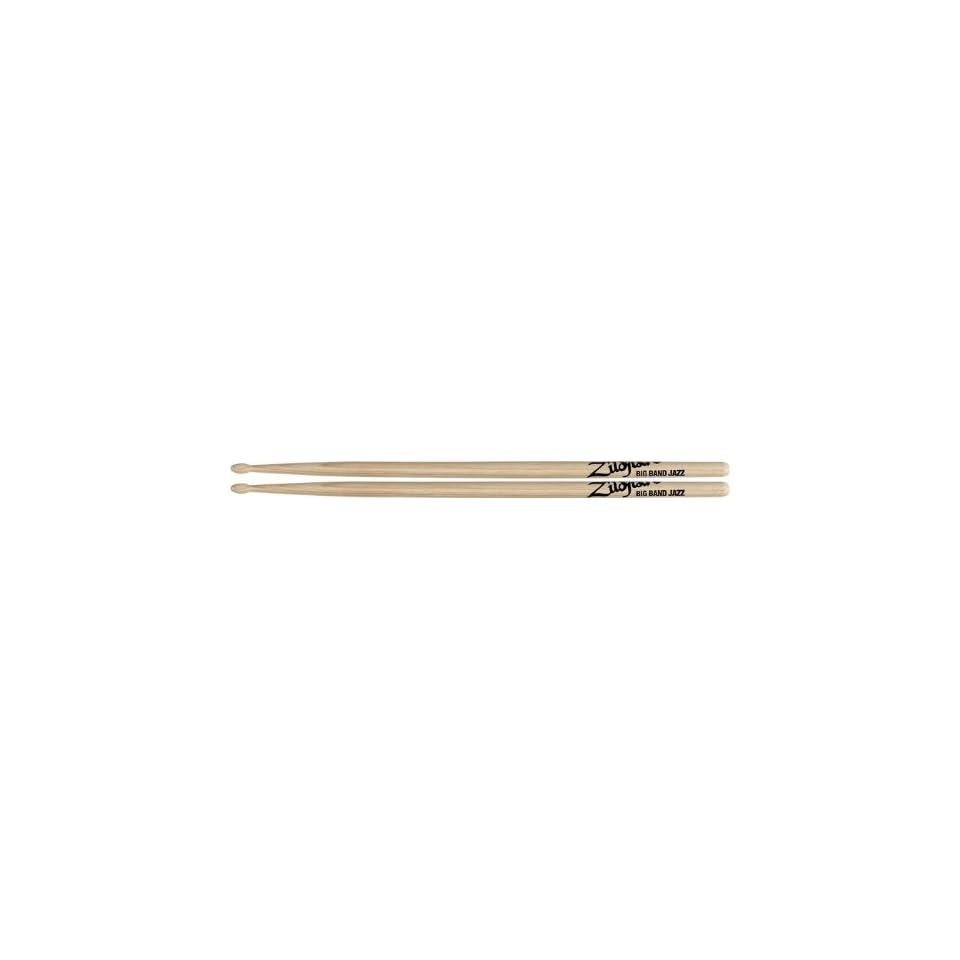 Big Band Jazz Drumsticks 6 Pair   Zildjian BBJWN Musical Instruments
