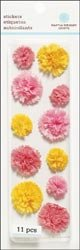 Martha Stewart Dimensional Stickers-Layered Pom Pom-Pink; 3 Items/Order