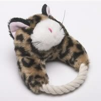 Classic Pet Products Small Paws Plush and Rope Kitty Cat 6 in Dog Toy
