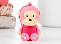 Ricco ® Baby Monkey USB High Speed Flash Memory Stick Pen Drive Disk (8GB SIT PINK)