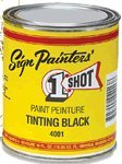 One Shot Paint 4001L-HP 1 Shot Shading Black Half Pint
