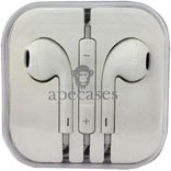 Ape Cases ApeCases Branded White Earphone Headphone Headset Hands free for Apple iPhone 3 4 4S 5 5c ipod ipad 2 3 4 Air
