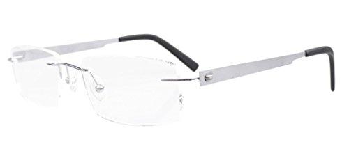 アイキーパー(Eyekepper) リムレス フチ無し チタンフレーム メンズ 光学フレーム 眼鏡フレーム 眼鏡枠 メガネフレーム ケース&クロス付き