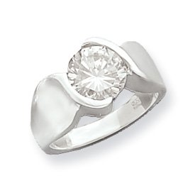 Genuine IceCarats Designer Jewelry Gift Sterling Silver Cz Ring Size 6.00