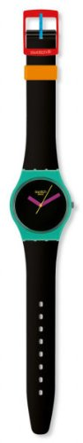 Swatch Originals AFM Powder Turn Black Dial Unisex watch #GG211