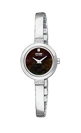 Citizen Eco-Drive Silhouette Bangle Black Dial Women's Watch #EW992050E